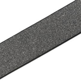 Prym gekleurde elastiek 50mm zwart-zilver