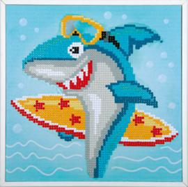 Diamond painting - Surfende haai
