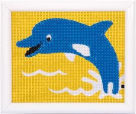Borduurset - dolfijn