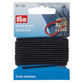 Prym elastisch koord 2,5mm zwart