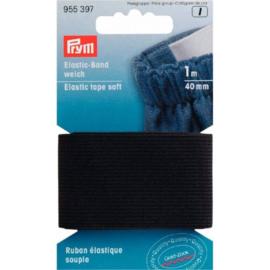 Prym band elastiek zacht 40mm zwart