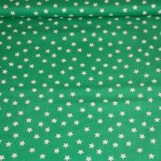 Katoen - Sterren groen