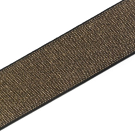 Prym gekleurde elastiek 50mm zwart-goud