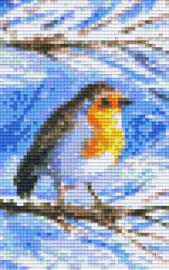 Pixelhobby set - vogeltje sneeuw - 2 basisplaten