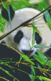 Pixelhobby set - panda - 8 basisplaten