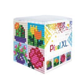 Pixel kubus XL - bloemen