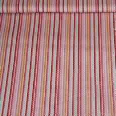 Katoen - Girl stripe pink