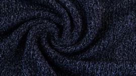 Breisels/Viscose - Knitted Shine navy