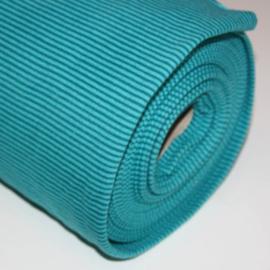 Boordstof - streep turquoise