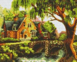 Pixelhobby set - huis met brug - 9 basisplaten