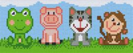 Pixelhobby set - cute animals - 2 basisplaten