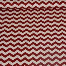 Katoen - Chevron stripe red