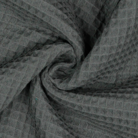Wafelstof - anthracite