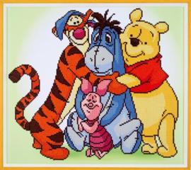 Diamond painting - Pooh en zijn vrienden
