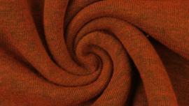 Sweater - Melange black yarn orange