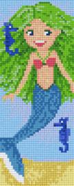 Pixelhobby set - zeemeermin - 2 basisplaten