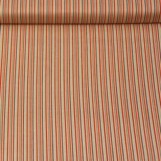 Katoen - Rocket stripes red