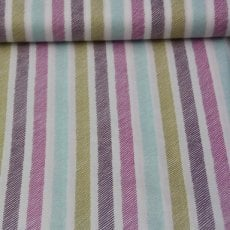 Katoen - Emma's garden sketchy stripe violet