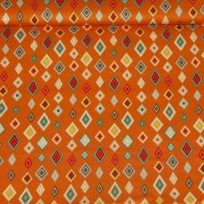 Katoen - Boy crazy diamonds orange
