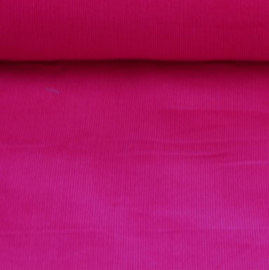 Baby ribfluweel - donkerroze