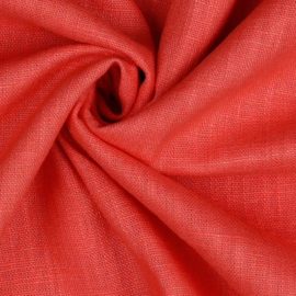 Linen washed - coral