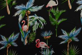 Viscose - Flamingo black