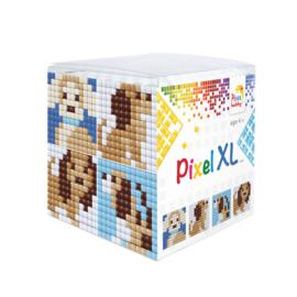 Pixel kubus XL - hondjes