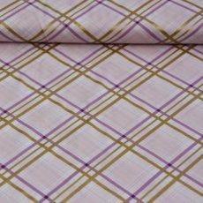Katoen - Brambleberry bow tie plaid opal