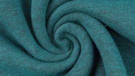 Sweater - Melange black yarn petrol