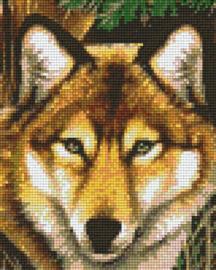 Pixelhobby set - wolf - 4 basisplaten
