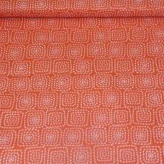 Katoen - Stitch square orange