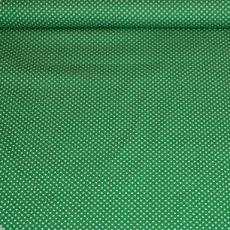 Katoen - Polkadot groen