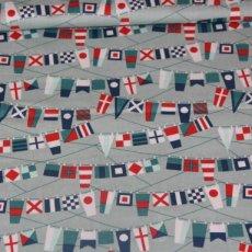 Katoen - Fly aweigh flags gray