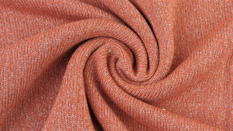 Breisels/Viscose - Knitted Shine brique