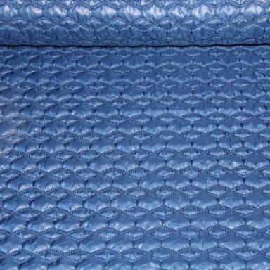 Voering - doorgestikte voeringstof blauw