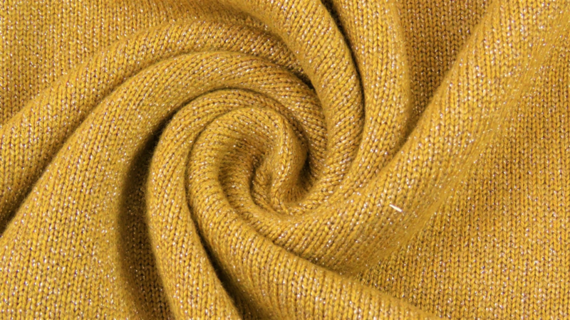 Breisels/Viscose - Knitted Shine yellow