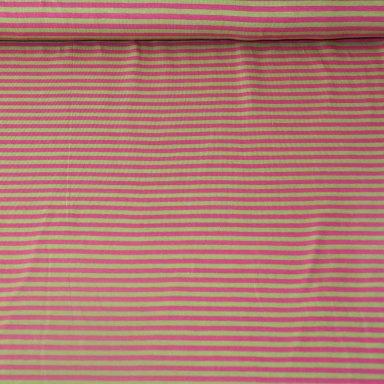 Tricot - Strepen fuchsia groen