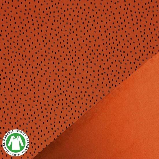 French terry - Stippen burnt orange