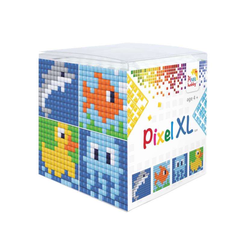 Pixel kubus XL - water