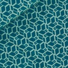 Katoen - Skew cube donker turquoise