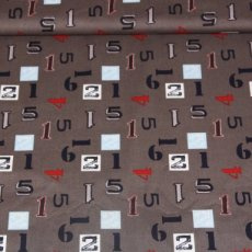 Katoen - Sporty numbers gray