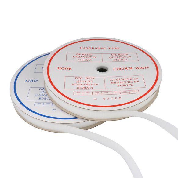 Klittenband naaibaar haak en lus 25mm wit