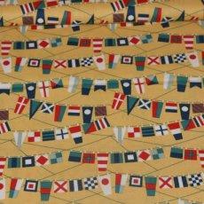Katoen - Fly aweigh flags yellow