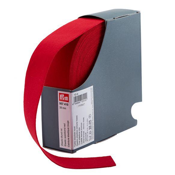 Prym taille elastiek 38mm rood