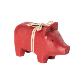 Maileg Wooden pig - small