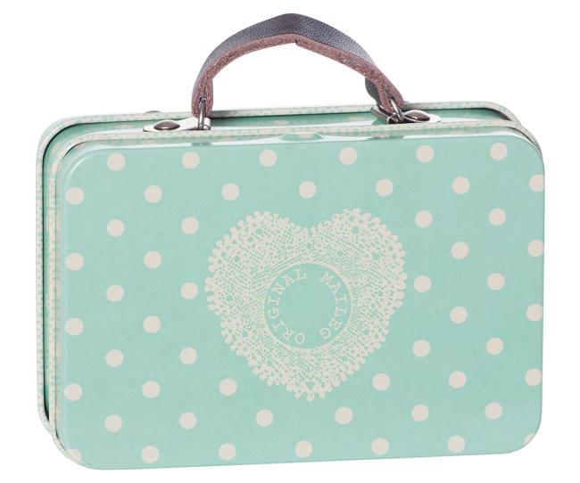 Maileg Suitcase Dusty Blue Dots
