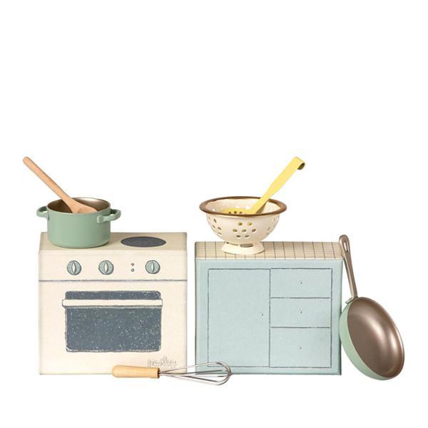Maileg fornuis met kookgerei