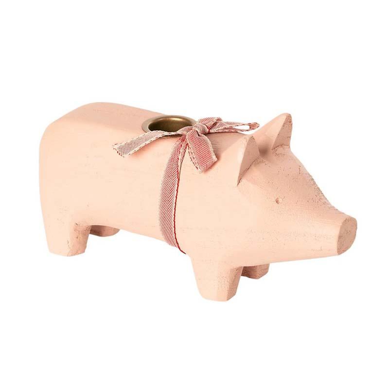 Maileg Wooden pig - medium