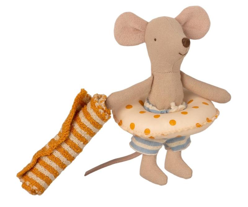 Maileg Beach mice, Little Brother in Cabin de Plage