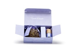 Cadeau doosje lavendel en autoparfum